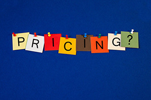 Pricing - sign series for business terms.