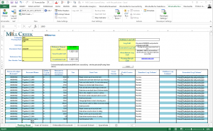 Excel-Beispielvorlage mit<br /> Winshuttle-Add-in